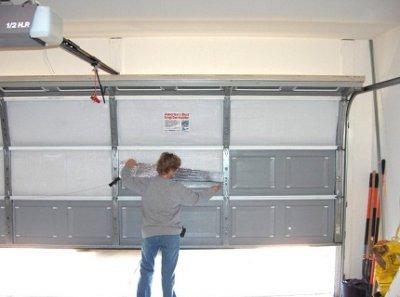 Как утеплить гаражные ворота своими руками